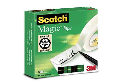 Scotch M8101966 Klebeband Magic (Zellulose Acetat, 19 mm x 66 m) matt / unsichtbar
