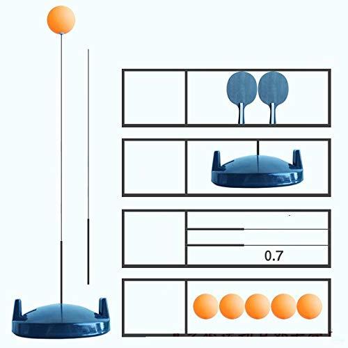 Schlägersportausrüstung Elastisches flexibles Schaft-Tischtennis-Trainingsgerät Kinder-Anti-Myopie-Indoor-Selbstlernartefakt-Schwarz (2 Schläger, 5 Bälle, 2 Schläge)