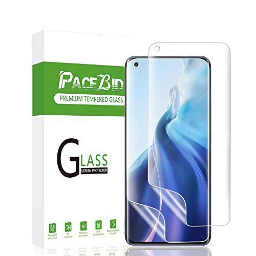 PaceBid 2 Pack Protector de Pantalla Compatible con Xiaomi Mi 11, [Admite la Función de Huella Digital ] [Face ID Completamente] [Sin Burbujas ] [Alta Definición ] [ Caso- Amistoso ]