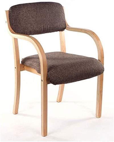 Chair Nordic Bent Wood Dining Chair, Home Simple Single Seat Cover Removable Design Washable Wooden Chair Restaurant Nordic Armrest Stool Back Desk Chair Computer Stool Coffee Chair