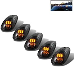 For 5Pcs LED Cab Roof Running Marker Lights Smoked Lens Amber Pickup Truck SUV Off Road Replacement Set