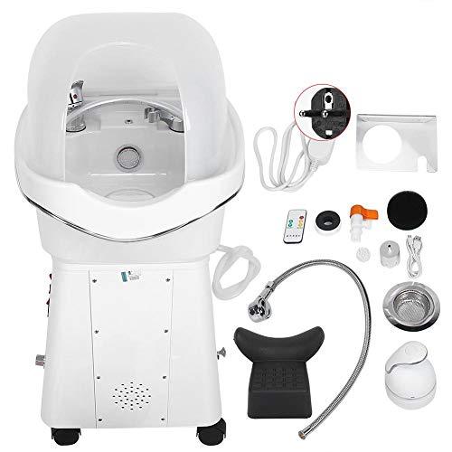 Machine de spa de soins capillaires,instrument de physiothérapie de fumigation par massage de la tête avec pommeau de douche en forme de U,vaporisateur à cheveux en mode lumière couleur (MOI)