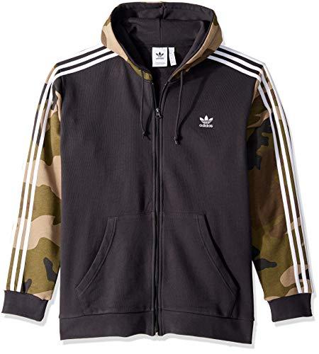 adidas Originals Herren Camo Full Zip Hoodie - Schwarz - X-Small