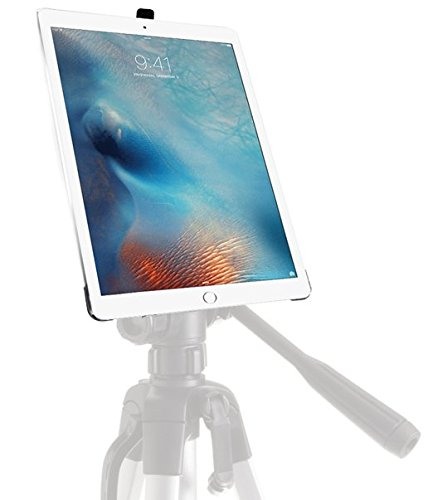 iShot G8 Pro iPad Pro 12.9 Tripod Mount Case - Securely Mount Your iPad Pro to Any 1/4 inch Thread Standard Camera Tripod, Monopod, Mic Stand or Music Stand - Compatible with iPad Pro 12.9' 1st & 2nd