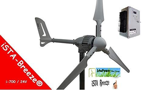 Istapower Windgenerator Set 700w 24v 5 Blades+ Laderegler 800w 24v
