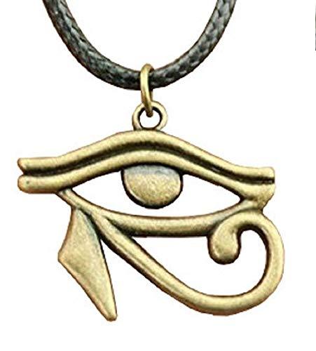 Inception Pro Infinite Collana con Occhio di Horus - Egiziane (Occhio Colore Bronzo)