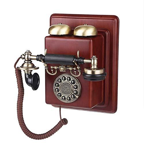 ZLBYB Teléfono Antiguo de Pared Retro, teléfono de línea de teléfono de línea Fija con Registros de Llamadas for la decoración de la Sala de Estar del hogar de la Oficina,...