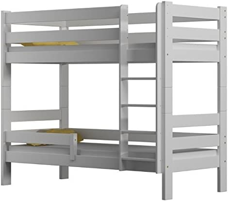 Literas de cama Sophie, 2 camas, de madera de pino, marco de 160 x 80 cm, madera, Blanco, 160x80