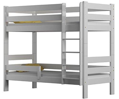 """Letto a castello """"Sophie"""", due posti letto, struttura in legno di pino, 180x 80 cm, Legno, White, 180x80"""