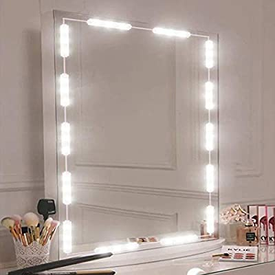 OurLeeme LED Mirror Lights, USB Touch Control Dimmable Strip Lights for Makeup and Dressing Mirror Portable Easy to Set
