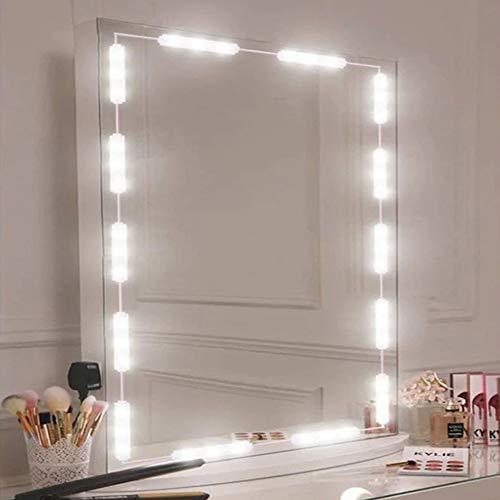 OurLeeme LED Spiegelleuchten, dimmbare USB Touch Kontrollleuchten für Make up und Schminkspiegel tragbar Einfach einzustellen