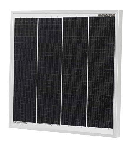 GWSOLAR 12W/12V系【超小型・軽量・高効率単結晶太陽光パネル/サイズ: 26.4X27.7X1.7cm /質量: 900g】逆流防止ダイオード付き/単結晶PERC太陽電池のEclipse Off-gridシリーズ/スモールサイズ・次世代型ソーラーパネル/バスバーレス仕様・船舶・小型発電に最適 GWソーラー(型番: GW-012-E0F4)