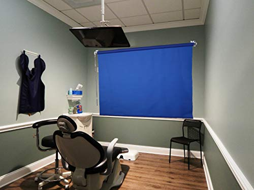 Sale- Work from Home - 5'X8' Wall-Mounted Blue Rollup Background System ID Photos