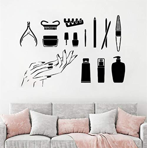 Zyzdsd Vinyl Wandaufkleber Maniküre Werkzeuge Wandtattoo Schöne Nägel Wand Kunst Wandbild Nail Art Polnischen Wand Poster Nägel Salon42 * 29 Cm