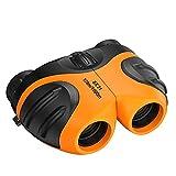 balikha Binoculares compactos 8x21, juguetes para niñas de 3 a 12 años, regalos para niños, niñas, binoculares compactos 8x21, regalo de Pascua - naranja