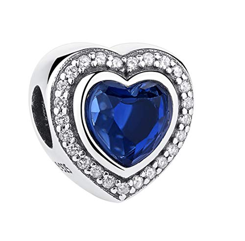 EvesCity Bolenvi 925 Sterling Silver Heart of The SEA Titanic Blue Charms Beads Pendants for Charm Bracelets & Necklace - Best Gift for Her