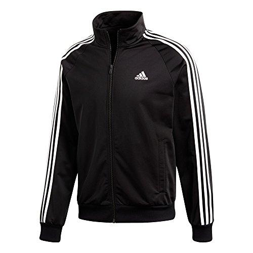 adidas ESS 3S Track Top Tri Jacket Hombres Chaqueta de chándal Fitness Negro/Blanco, Tamaño:M