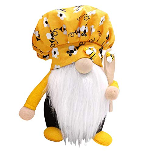 LQIAN Easter Bee Plush Faceless Doll Gonk Dwarf Decoration Gifts Ornaments Plush Toys, Decoration & Hangs forHome & Garden, Easter Deal (Orange)