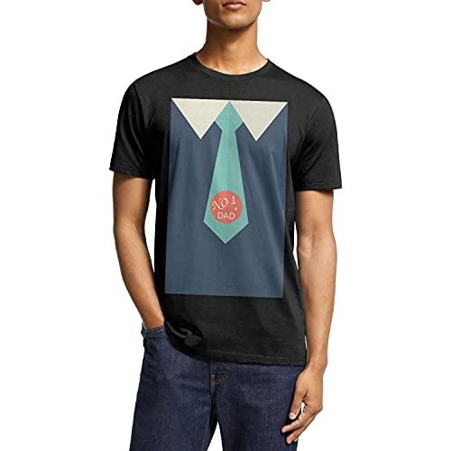 Camiseta de manga corta para hombre, 100% algodón, cuello redondo, para el día del padre, regalo del abuelo, negro-82, XX-Large