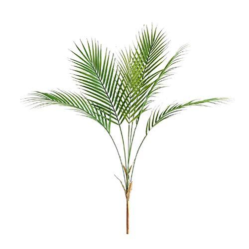 MOOVGTP Lot de 2 feuilles de palmier artificielles, 6 têtes de 59,9 cm, plantes tropicales, fausses feuilles de fougère, arbustes pour intérieur ou extérieur, décoration de mariage