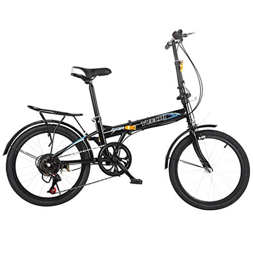 Leisure 20in 7 Speed ??City Folding Mini Compact Bike Bicycle Urban Commuter with Back Rack