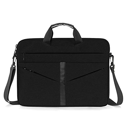 Laptop Sleeve Case 15.6 Inch Ultra-Slim Padded Laptop Computer Pouch Bag Cover with Handle Pocket Tablet Briefcase Carrying Bag Compatible with Acer (15.6 in, Black)