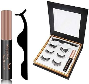 3-Pairs LSRTCC Magnetic Eyelashes with Eyeliner & Mirror
