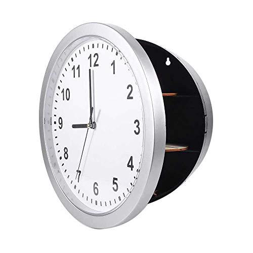 YuKeShop Reloj de pared seguro, fácil de instalar, caja fuerte con 3 estantes con diseño moderno