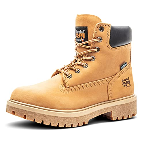 """Timberland PRO Men's 65016 Direct Attach 6"""" Steel Toe Boot,Yellow,10.5 M"""