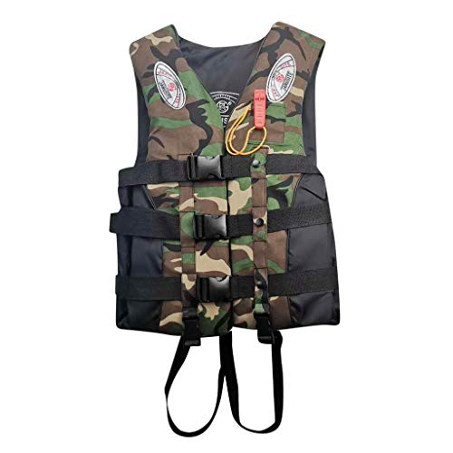 SDKLJ Adults Life Jacket with Whistle Aid Vest Kayak Ski Buoyancy Fishing Boat Watersport Recreation Life Vest for Men Women Teens