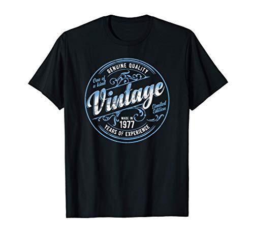 Vintage Made In 1977 Genuine & Original 44th Birthday T-Shirt