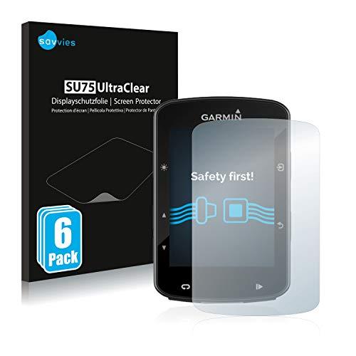 savvies Protector Pantalla Compatible con Garmin Edge 520 Plus (6 Unidades) Pelicula Ultra Transparente