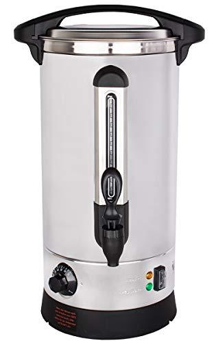 Beeketal 'BGWK10' Gastro Glühweinkocher 10 Liter Volumen mit Füllstandskala, Anit-Tropf Zapfhahn und stufenlos regelbarem Thermostat (30-110 °C), Profi Edelstahl Wasserkocher mit 1500 Watt Leistung