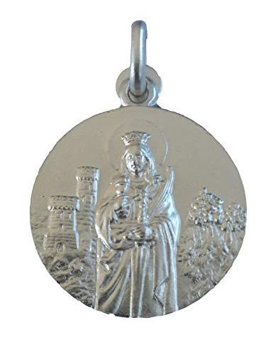 SACRE COEUR - Medalla de Santa Bárbara | Plata Primera Ley | Patrona de los mineros y la artillería | Acabado con Bisel Estriado