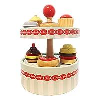 NC シミュレーションふりプレイキッチンケーキおもちゃプレイハウスシミュレーション食品就学前幼児ロールプレイパーティーギフト