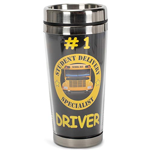 Dicksons Number 1 Bus Driver, Student Delivery Specialist 16 Ounce Stainless Steel Travel Tumbler...