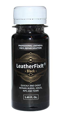 Black Leather & Vinyl Repair Solution | No-Heat, Fast Drying | Furniture, Car Seats, Couch, Chair, Jacket, Boots, Belt and Purse Repair Adhesive