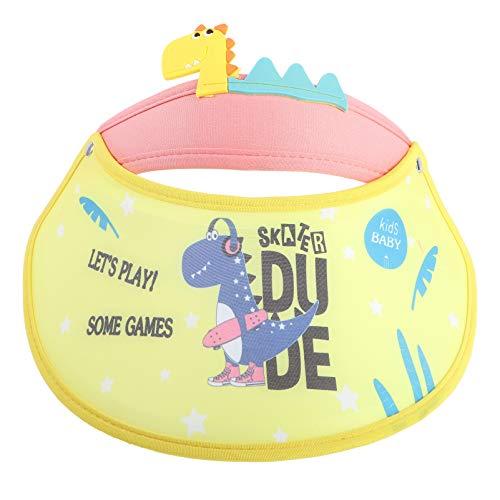 Kisangel Baby Kinder Sonne Hut Cartoon Dinosaurier Hüte UV Schutz Strand Hut Sommer Sonnenschutz Kappe (Gelb)