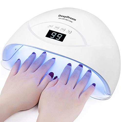DeepDream 84W LED Nail Lamp UV Light Gel Nail Polish Dryer Toenail Fingernail Nail Art Curing Lamp