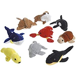 Dozen Assorted Stuffed Plush Sea Animal Toys