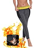 Dr.CURVY Mujer Pantalones Sauna de Neopreno Térmicos de Adelgazamiento Pantalon Push Up High Waist Thigh Tummy Fat Burner Deporte Yoga RunningL
