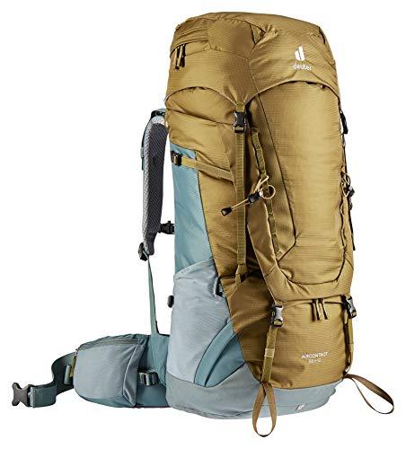 Deuter Aircontact 55+10, Zaino da Trekking Unisex-Adult, Clay-Teal, 10 L