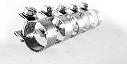 lot de 5 Collier de serrage 15 mm en acier inoxydable avec doublure en caoutchouc en P pour durite tuyau