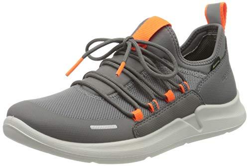 Superfit Jungen THUNDER Sneaker, Grau (Hellgrau/Orange 25), 41 EU