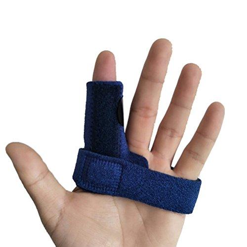 ULTNICE Fingerschiene für Finger Frakturen, Wunden und postoperativ Einstellbare (blau)