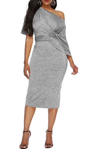 Dawwoti Lady Cocktailkleid für Brautkleid One-Shoulder-Kleid