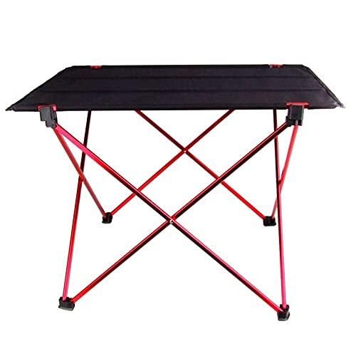 Escritorio de Mesa Plegable Plegable portátil Camping al Aire Libre Picnic Aleación de Aluminio Escritorio Plegable Ultraligero Fácil de Llevar