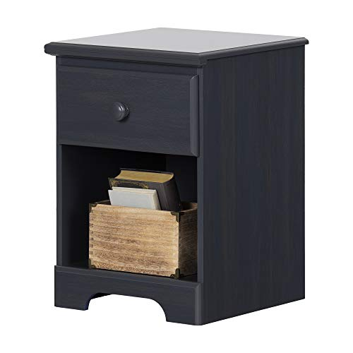 Bedside Table with Drawer (Blueberry)