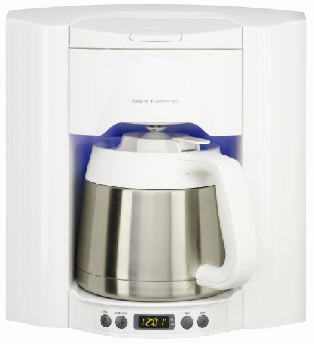 Brew Express BE-110WW 10-Cup Built-in Coffee System, White