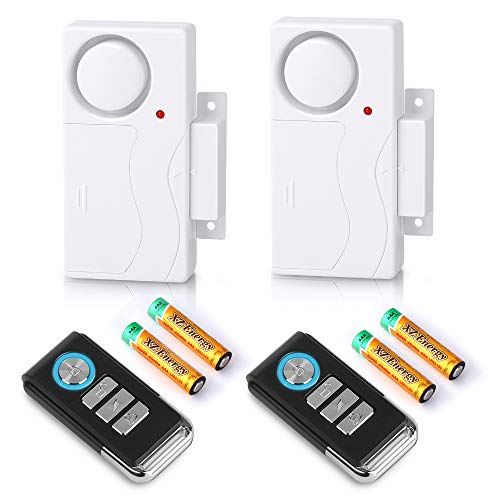 Wsdcam Wireless Door Alarm with Remote 2 Pack
